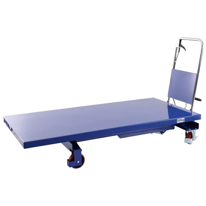Hubtischwagen mit extra großer Plattform 500 kg - Hubhöhe: 900 mm