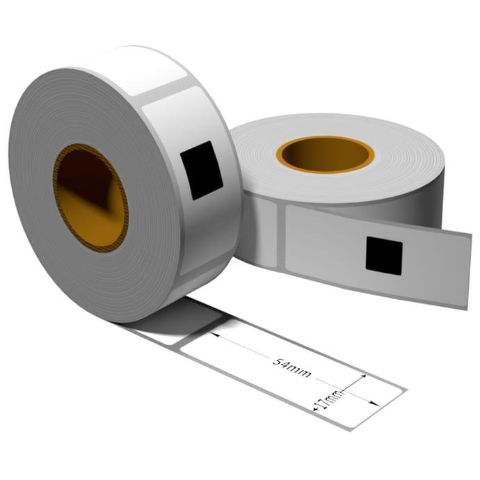 Label für Brother DK11204 17 x 54 mm 400 Label mit wiederverwendbarer Wechselhalterung