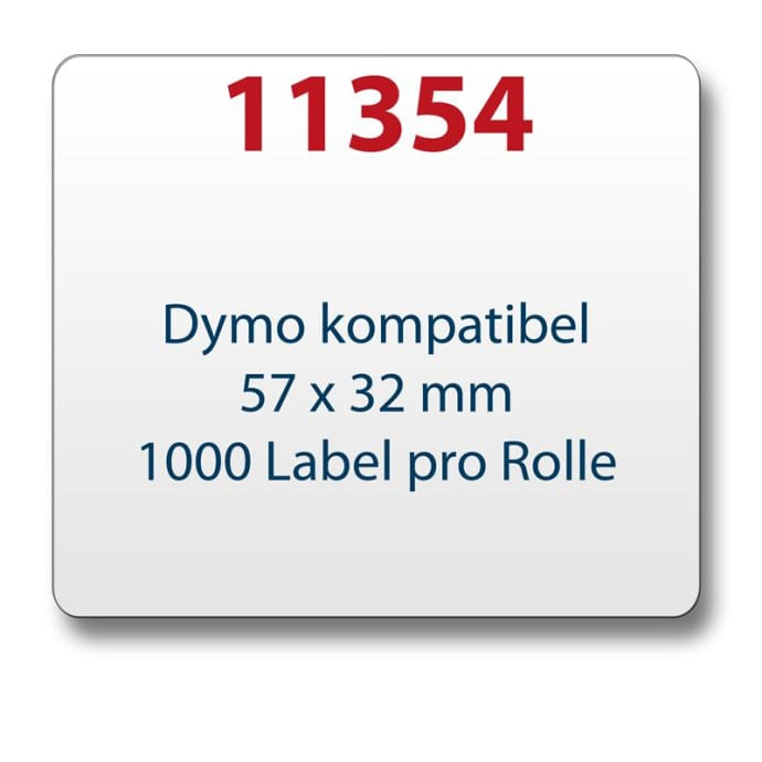 Label kompat. zu Dymo 11354  57 x 32mm 1000 Labels