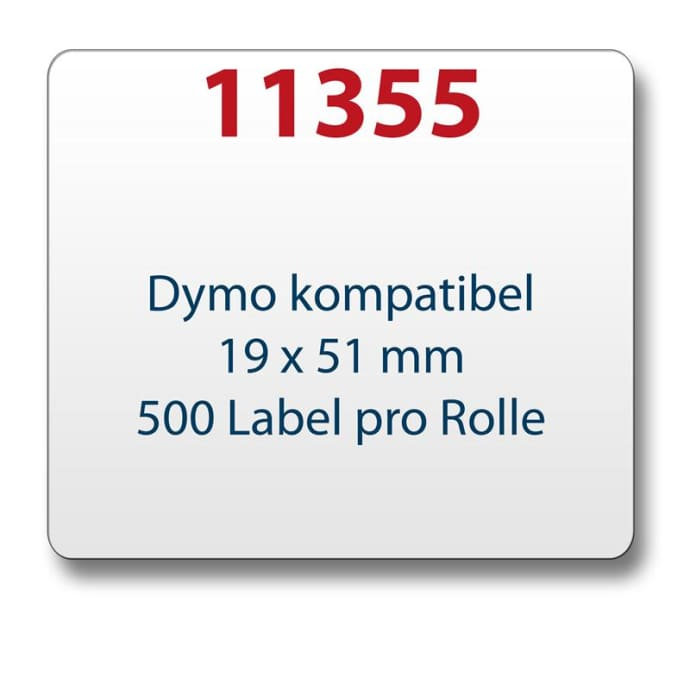 1x label compatible with the Dymo 11355 19 x 51 mm 500 labels per roll