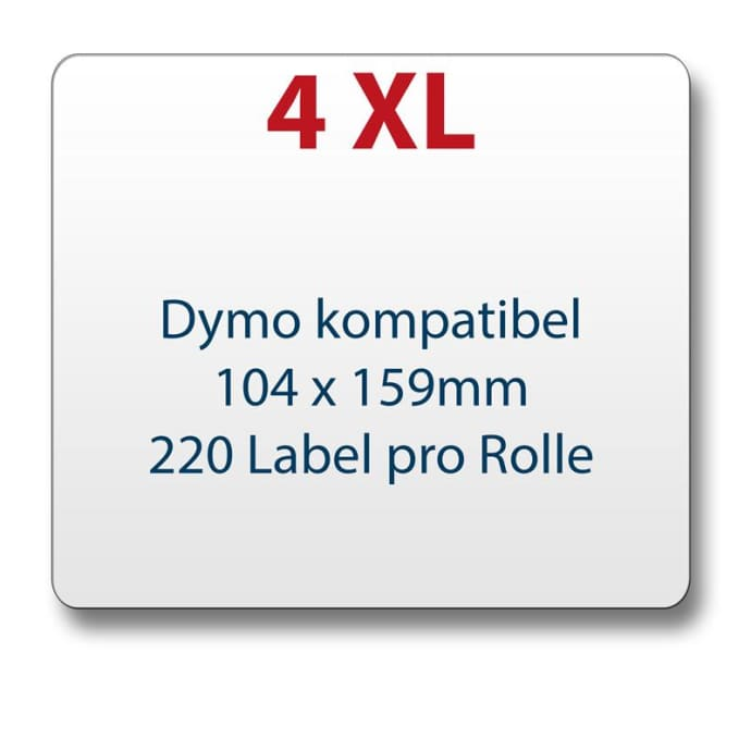 Label kompat. zu Dymo 4XL 104x159 mm 220 Labels