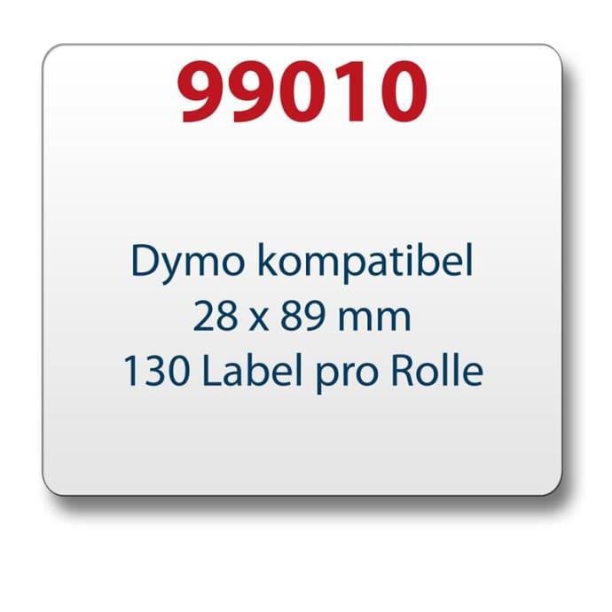 Label kompat. zu Dymo 99010 28 x 89 mm 130 Labels