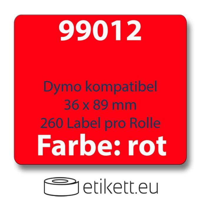 Label farbig komp. zu Dymo 99012 36x89 mm 260Stk.