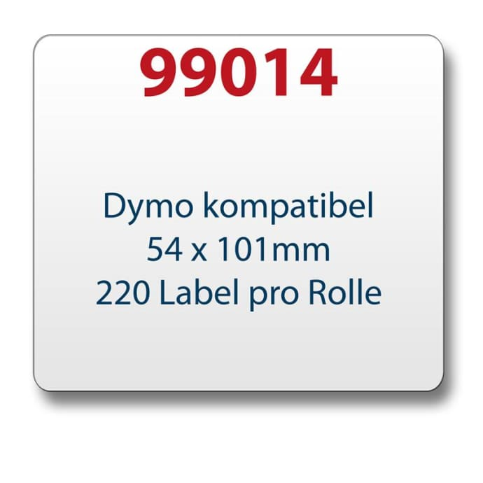 Label kompat. zu Dymo 99014 54x101mm 220 Labels