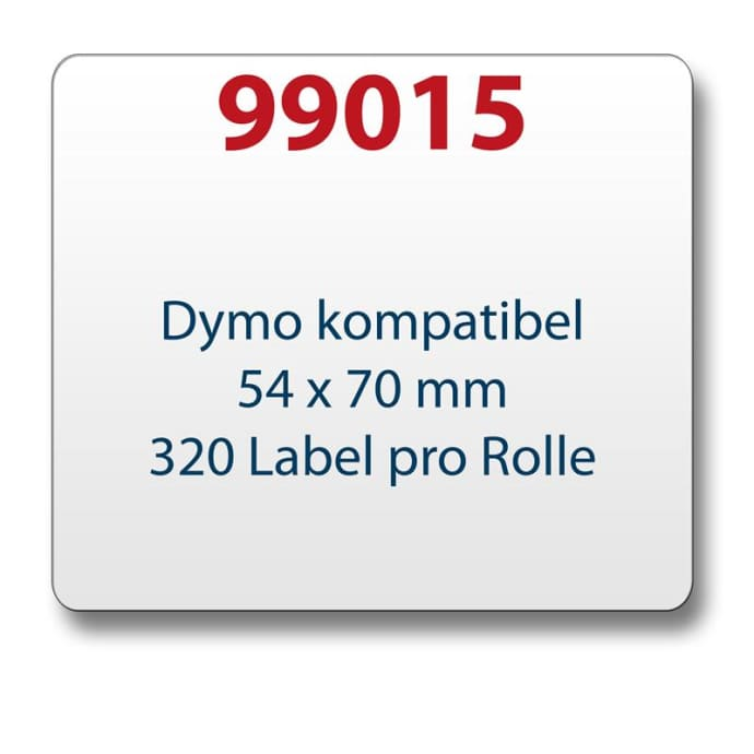 Label kompat. zu Dymo 99015 54x70mm 320 Labels