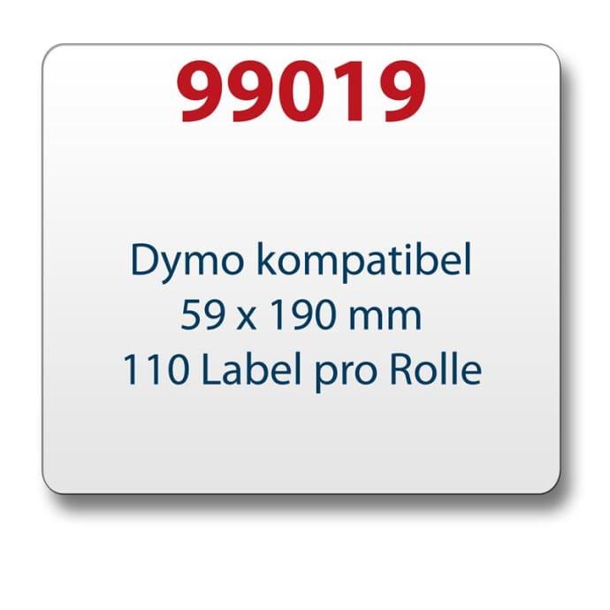 Label kompat. zu Dymo 99019 59 x 190 mm 110 Labels