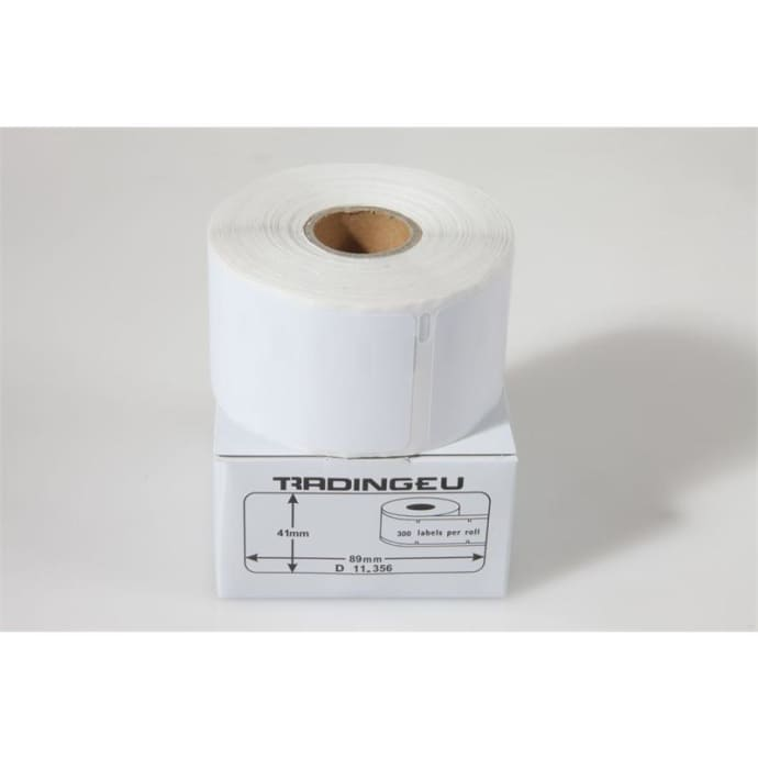 1x label compatible with the Dymo 11356 41 x 89 mm 300 labels per roll