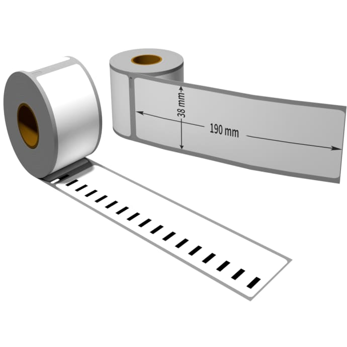 1x label compatible with Seiko SLP-FN 38 x 190 mm 110 labels per roll