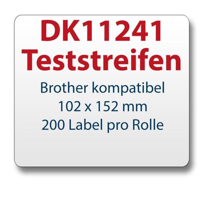 Teststreifen Brother Etikett DK11241 102x152mm