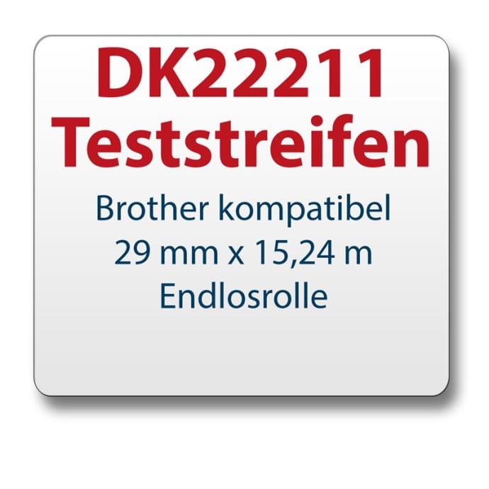 Teststreifen Brother Etikett DK22211 29mmx15,24m
