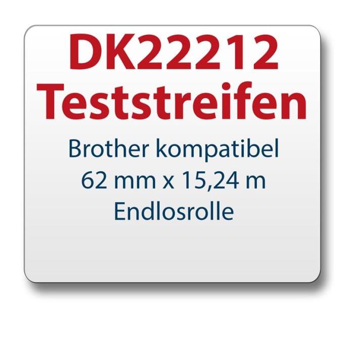Teststreifen Brother Etikett DK22212 62mmx15,24m