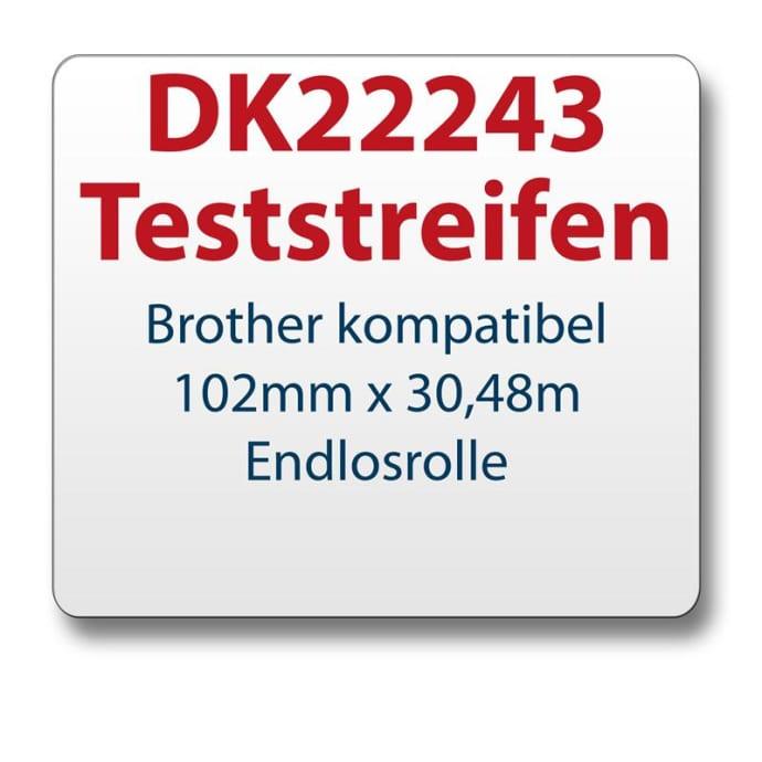 Teststreifen Brother Etikett DK22243 102mmx30,48m