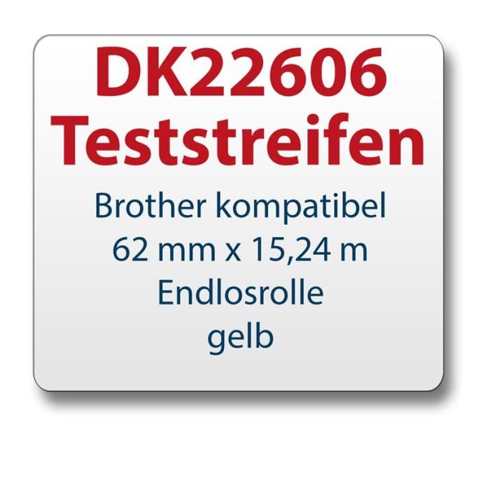 Teststreifen Brother Etikett DK22606 62mmx15,24m
