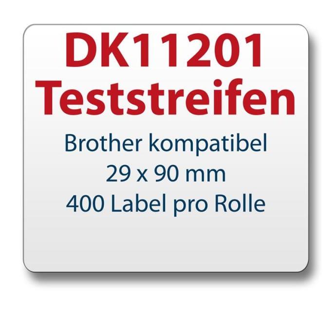 Teststreifen Brother komp. Etikett DK11201 29x90mm
