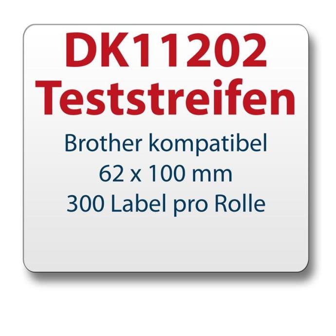 Teststreifen Brother komp Etikett DK11202 62x100mm