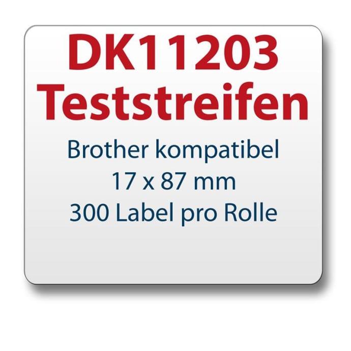 Teststreifen Brother komp. Etikett DK11203 17x87mm