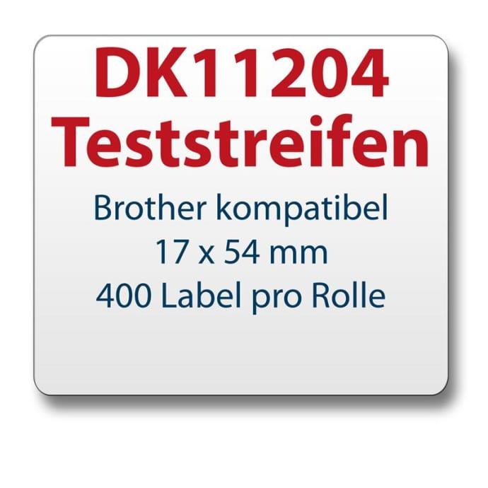 Teststreifen Brother komp. Etikett DK11204 17x54mm