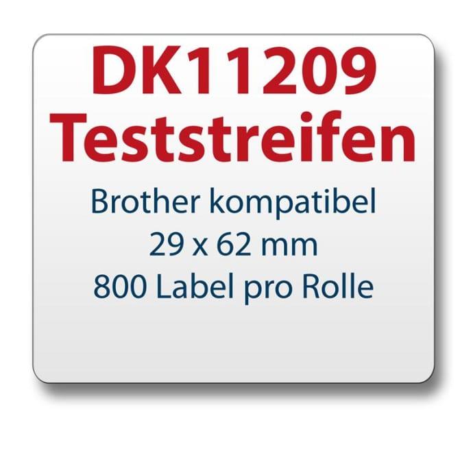 Teststreifen Brother komp. Etikett DK11209 29x62mm