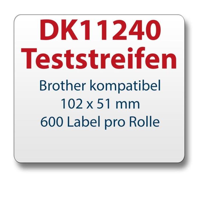 Teststreifen Brother komp Etikett DK11240 102x51mm