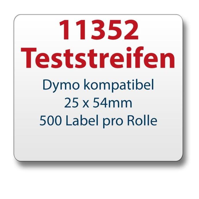 Teststreifen Dymo komp. Etikett 11352 25x54mm