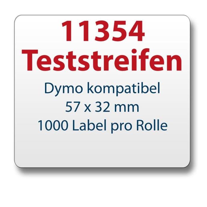 Teststreifen Dymo komp. Etikett 11354 57x32mm
