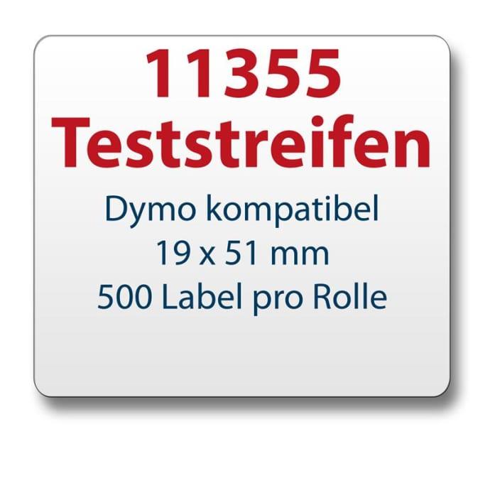 Teststreifen Dymo komp. Etikett 11355 19x51mm