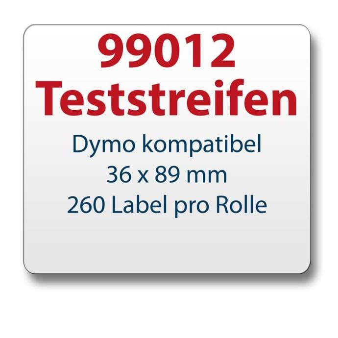 Teststreifen Dymo komp. Etikett 99012 36x89mm