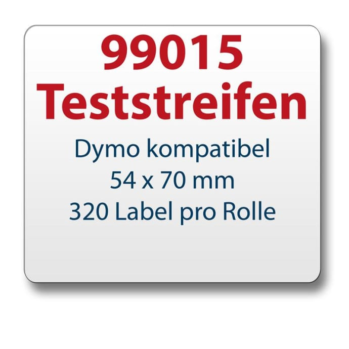 Teststreifen Dymo komp. Etikett 99015 54x70mm