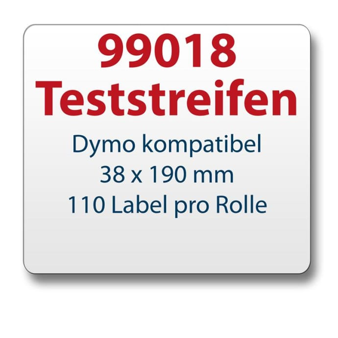Teststreifen Dymo komt. Etikett 99018 38x190mm