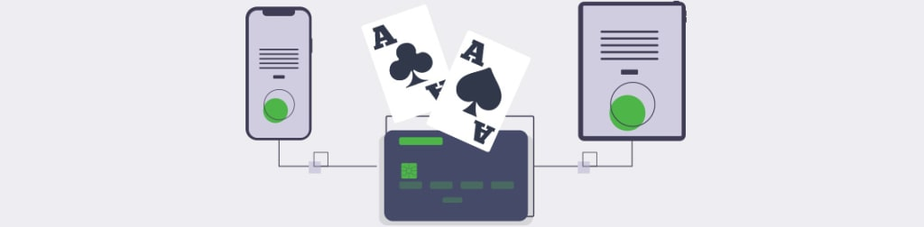 Mobile and tablet device with 2 Ace Card