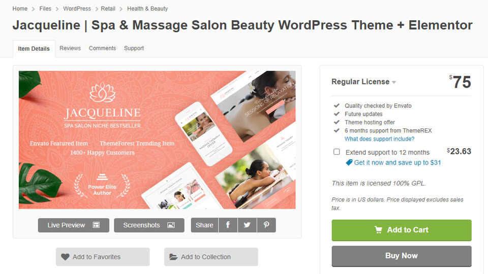Download Theme Jacqueline Spa Massage Optimized
