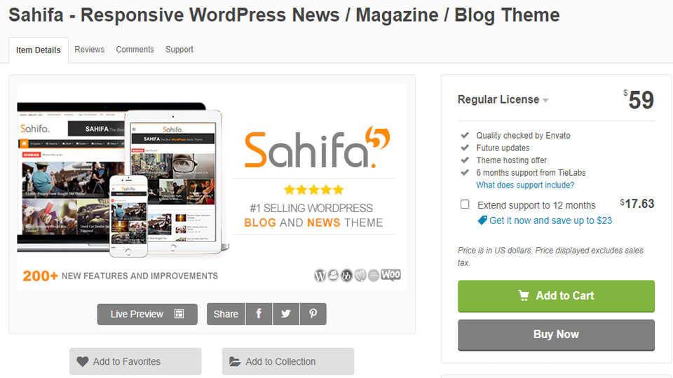 Download Theme Tin Tuc Sahifa WordPress Optimized