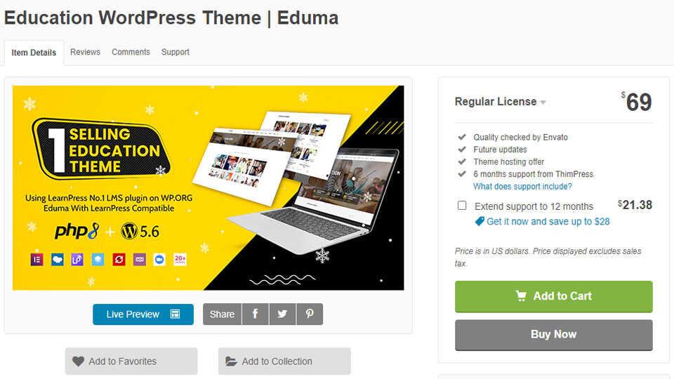 Download Theme Eduma Optimized