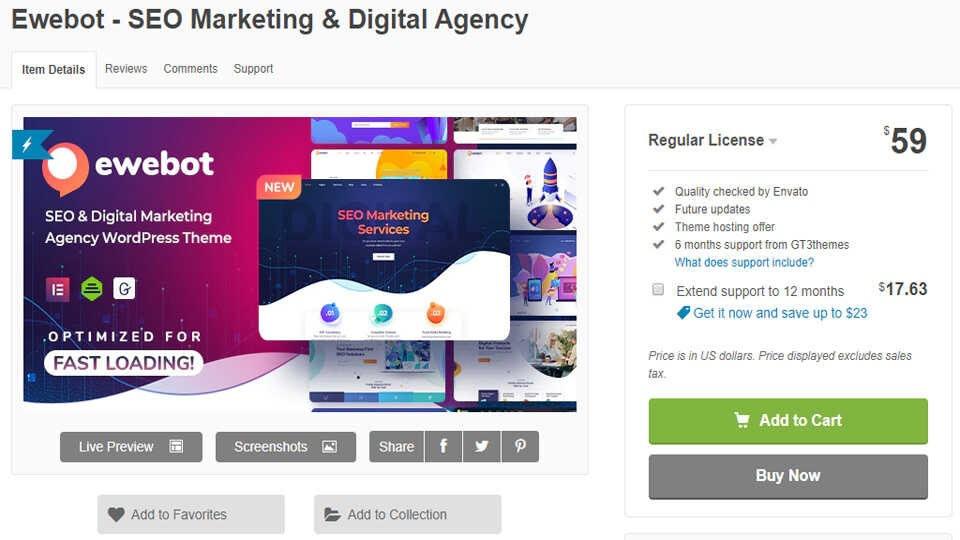 Theme Ewebot Seo Marketing Forest Optimized