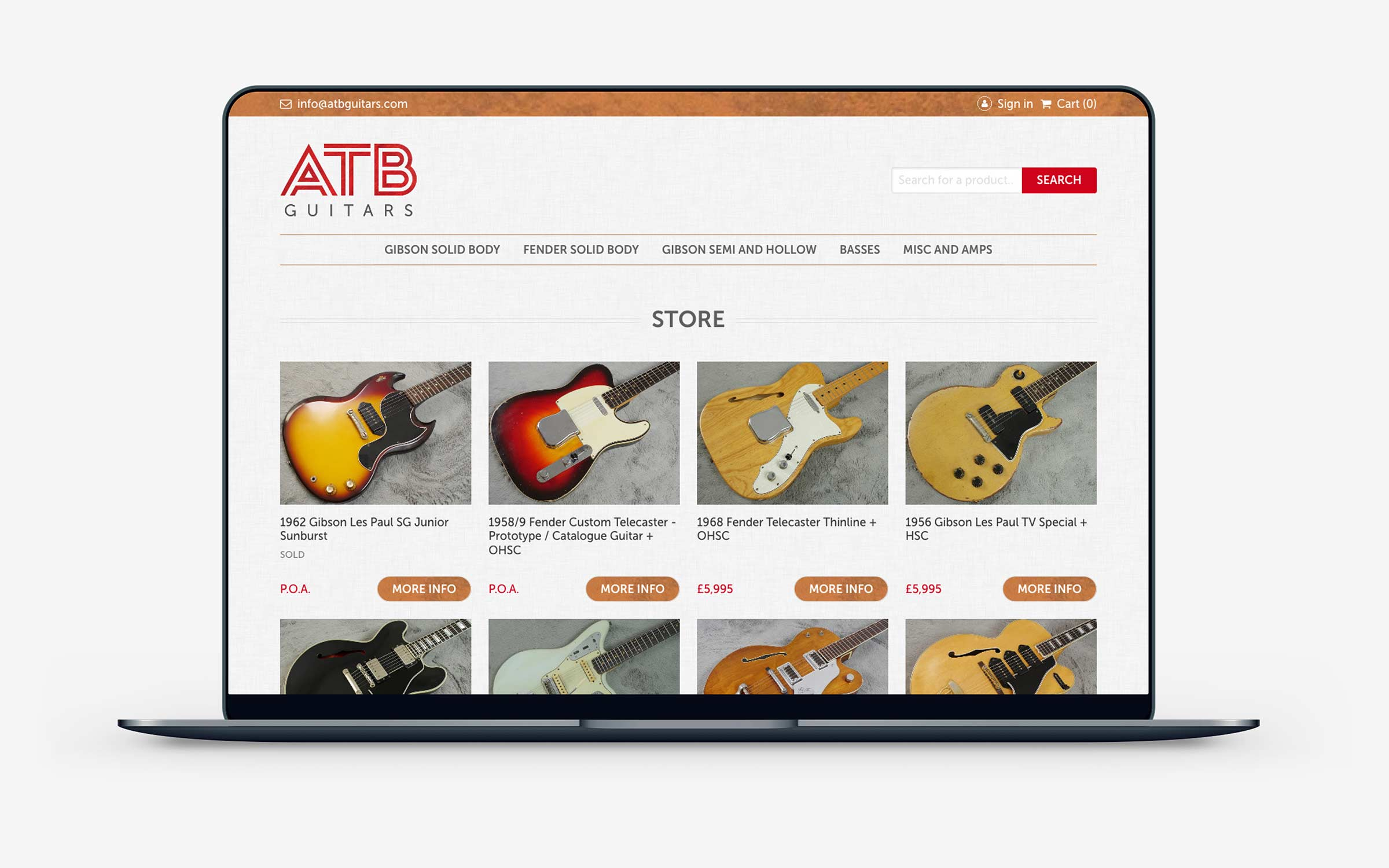 ATB website in desktop view