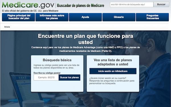 Buscador de planes de Medicare