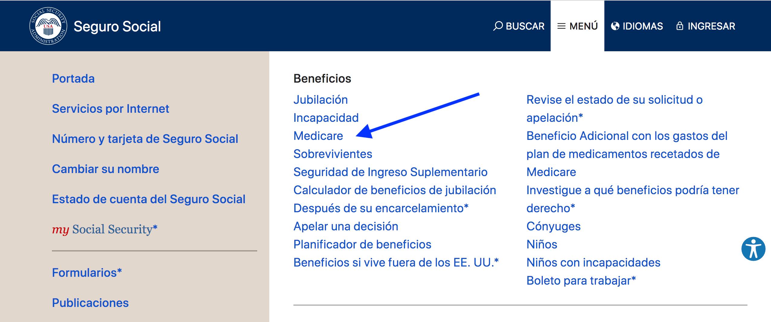 el sitio web oficial de la Administración de la Seguro Social