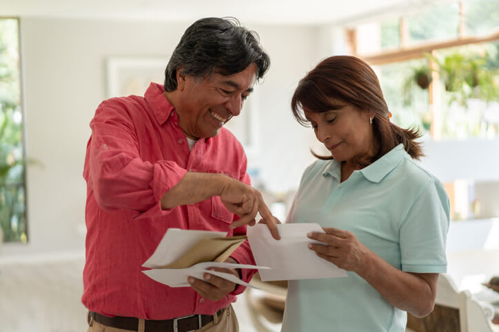 Couple reviews their Medicare mail
