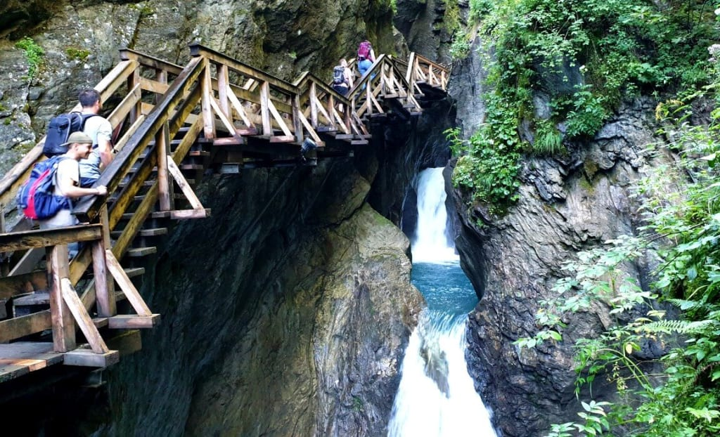 Hiking the Sigmund Thun Gorge is a great way to cool off in summer in Zell am See.