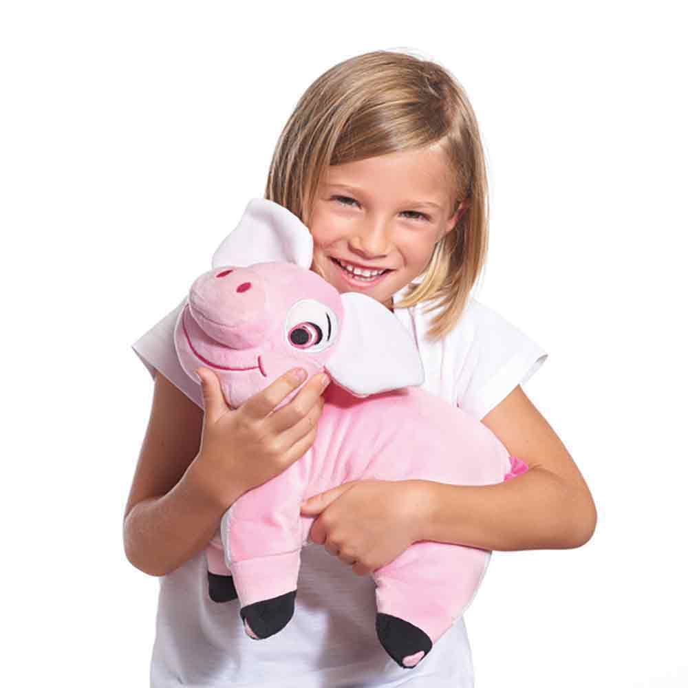 pig shaped travel pillow travel blue