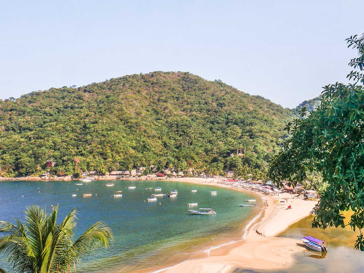 yelapa beach from above