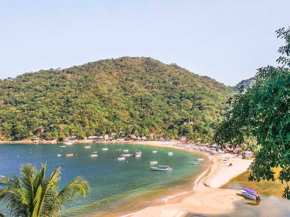 yelapa beach from above