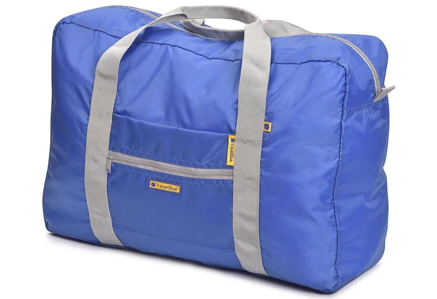 travel blue folding shopping bag
