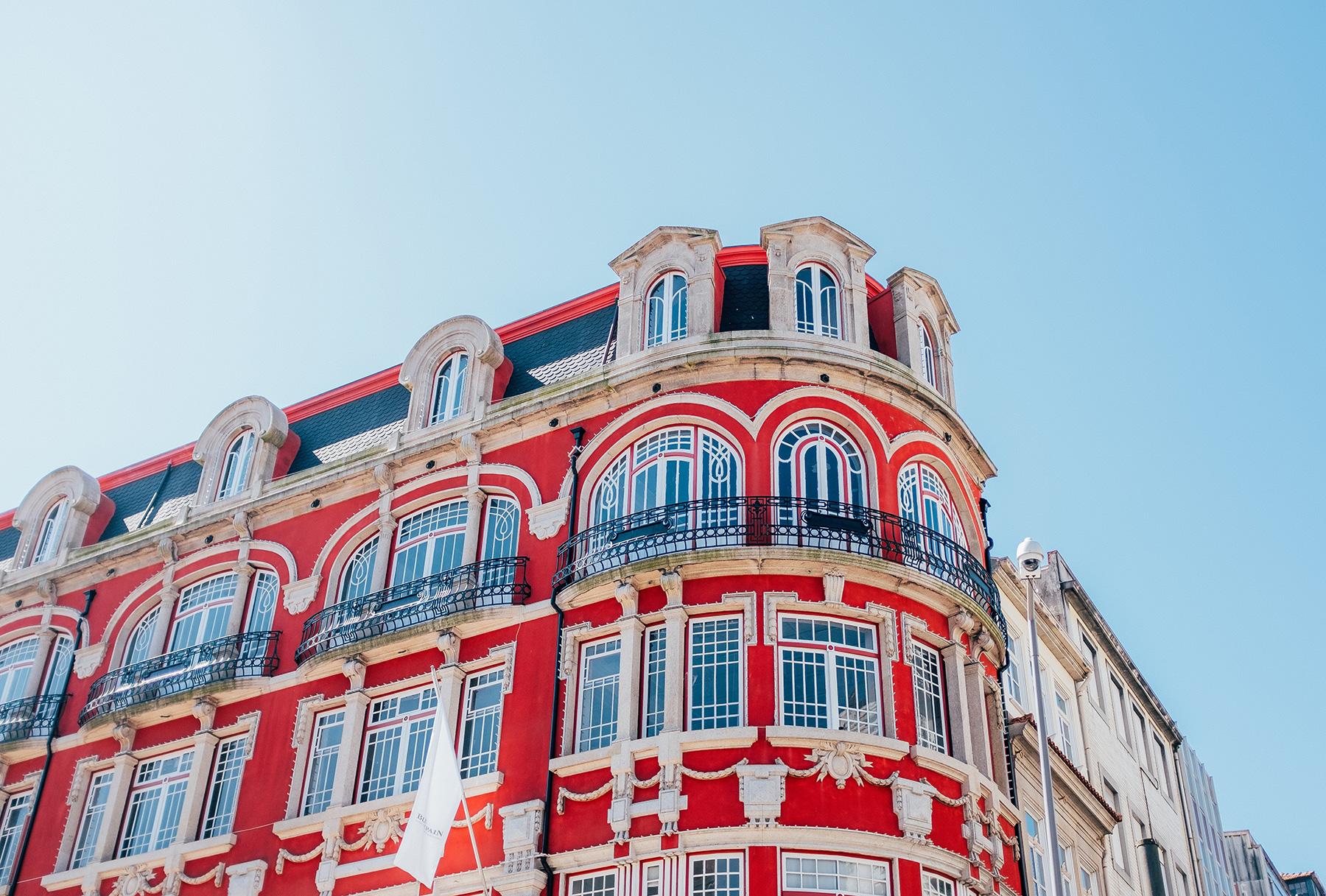red building in Porto Portugal