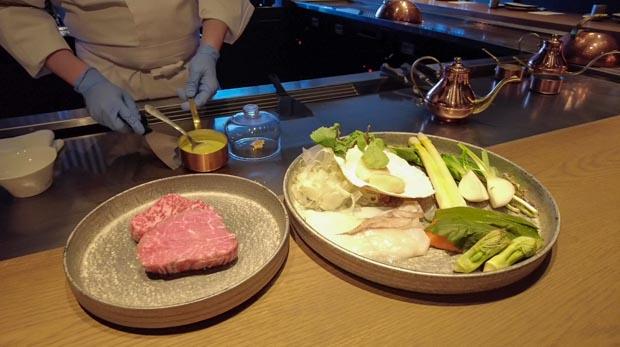 パークハイアット ニセコ 夕食 鉄板焼き