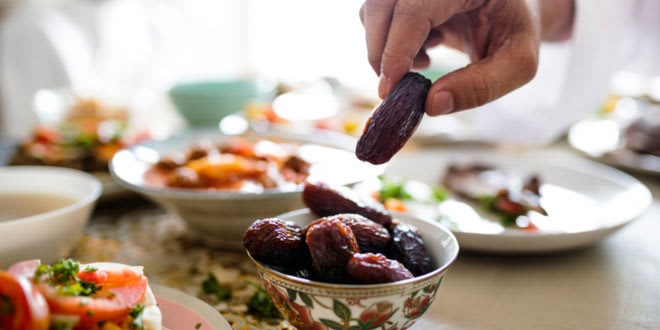Dates and other delicious dishes from Dubai for an iftar meal