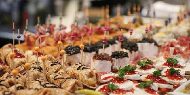 Assortment of Spanish tapas or pintxos, one of the best ways to discover the Basque Country.
