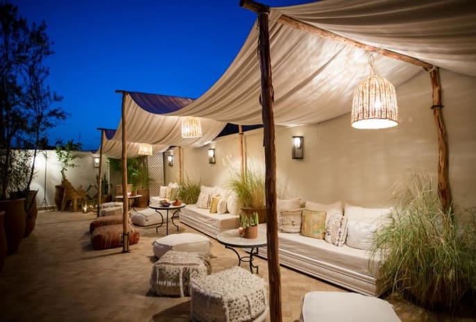 Marokkanischer Flair unter dem nordafrikanischen Sternenhimmel.