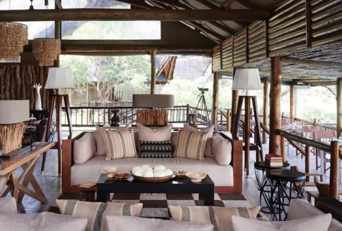Belmond Savute Elephant Lodge Lounge