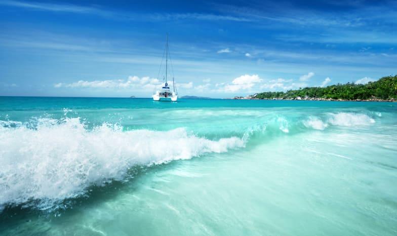 Seychellen.Praslin.Jacht